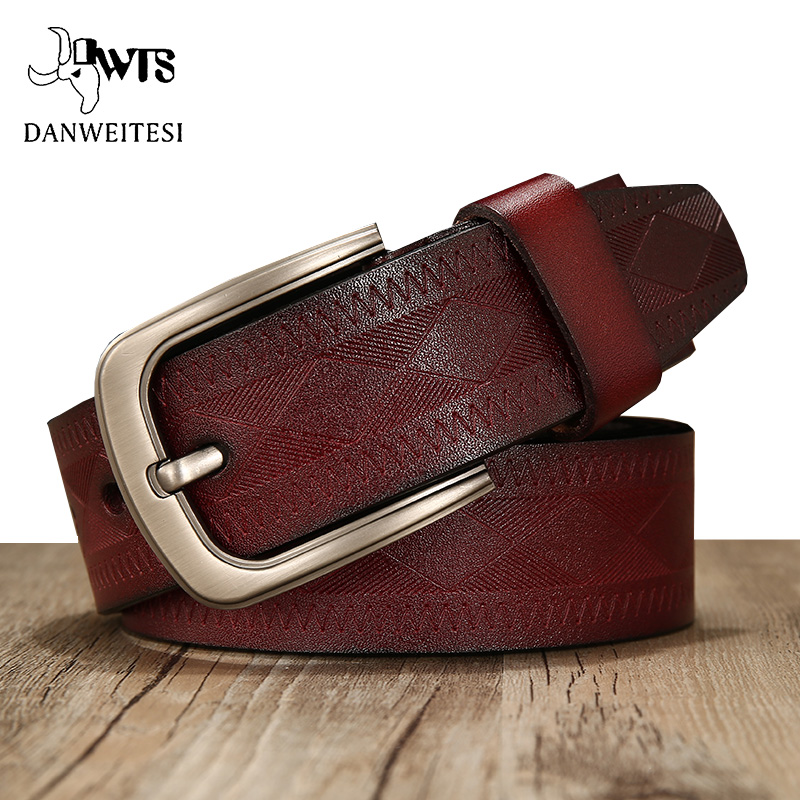 1e0651563  DWTS  homens da correia de couro de alta qualidade genuína da correia de couro  cintos de grife de luxo homens cowskin Cinta de moda masculina Calça Jeans  ...