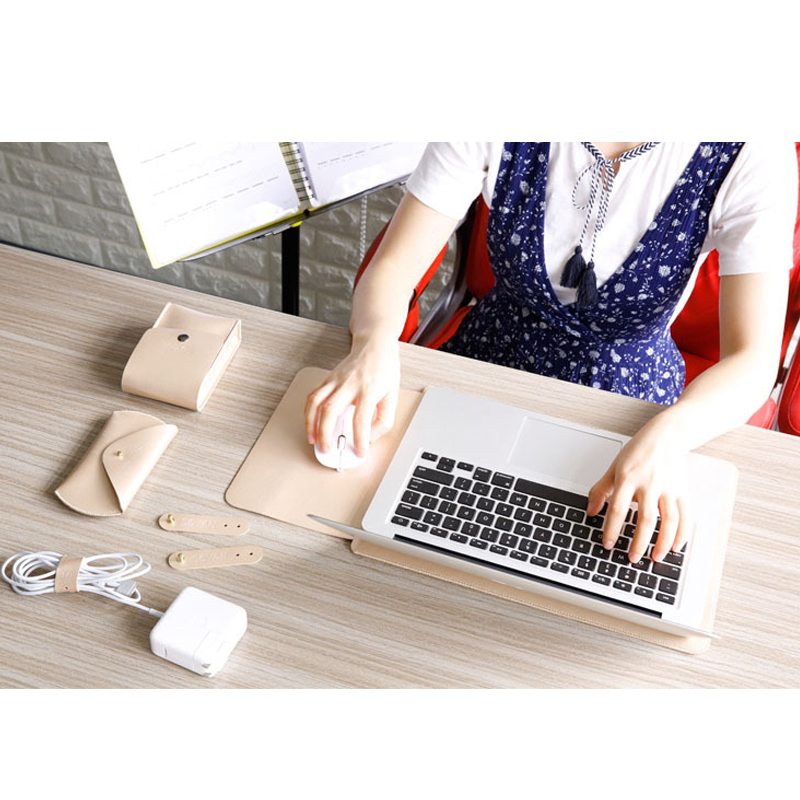 Image 5 - Notebook Case Mouse Pad Pouch For Xiaomi Macbook Air 11.6 12 13 Cover Retina Pro 13.3 15 15.6 Fashion Laptop Sleeve Leather Bag-in Laptop Bags & Cases from Computer & Office