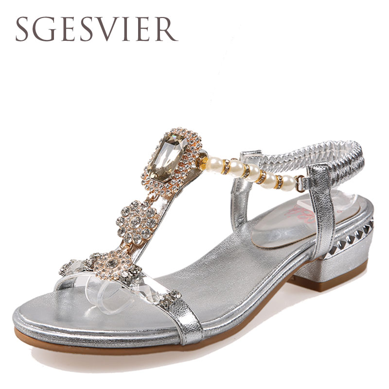 SGESVIER  Crystal Gladiator Sandals 2017 New Bling Sexy High Heels Platform Wedges Sandals Casual Gold Shoes Woman G885 phyanic gold silver wedges sandals 2017 new platform casual shoes woman summer buckle creepers bling flats shoes phy4040