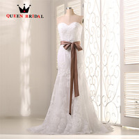 Custom Size Ball Gown High Low Lace Satin Beading Wedding Dress Robe De Mariage Vestido De