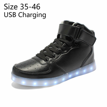 En gros Usb Lumineux Sneakers tenis Led Pantoufles hommes de Krasovki schoenen lumineux sneakers Led simulation Panier Chaussures