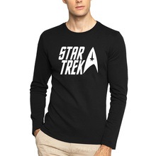 classic movie Star trek Printed Mens Men T Shirt Tshirt Fashion 2016 New Long Sleeve O Neck Cotton T-shirt Tee Camisetas Hombre