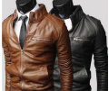 Free shipping Mens PU motorcycle leather collar British business high-end leather coat quality coat jacket