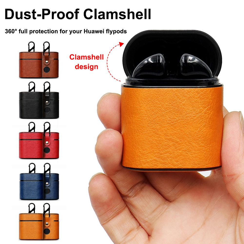 New Earphone Protective Case For Huawei Honor Flypods Wireless Headset Protector Freebuds2pro Protective Leather Case Portable-in Earphone Accessories from Consumer Electronics