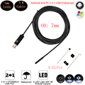 5M Cable 7mm Flexible Waterproof Mini Usb Endoscope Car Detector Android Endoscope  PC Snake USB Surveillance Camera Smartphone