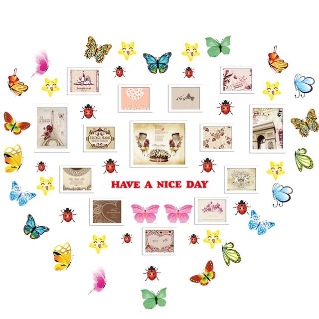 2 Stücke Schmetterlinge Englisch Letters Wand Aufkleber Aufkleber  Dekoration Kinder Baby Hochzeit Geburtstag Valentinstag Weihnachtsgeschenk