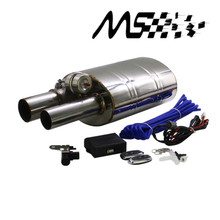Stainless Steel 2.5 Straigh Outlet Tip 2.5Inlet Weld On Single Exhaust Muffler with different sounds/Dump Valve Exhaust Cutout stainless steel 2 5 or 3 in out tip on single exhaust muffler dump valve exhaust cutout with wireless remote controller set