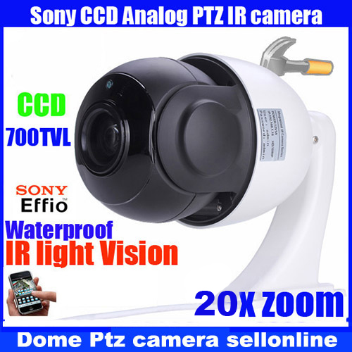 CCTV MINI 4 Inch High speed PTZ IR 700TVL 1/3 SONY CCD 20X Digital Zoom CCTV Waterproof Outdoor PTZ Security Camera hot promotion 2000tvl sony ccd ir outdoor