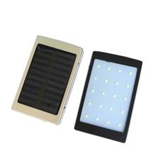 Banco de Potência Solar com 20 Bank para Todos Celular ao AR 10000 MAH LED Luzes de Acampamento Solar Externa Carregador Power Telefone Celular para ao AR Livre e camping