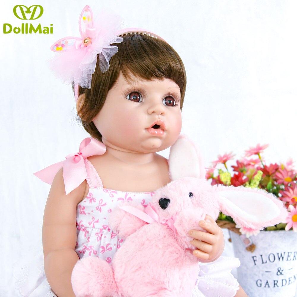 55cm Reborn Baby Puppe Volle Silikon Vinyl Bebe Reborn Realista kurze haare Mädchen Spielzeug Für Prinzessin Geschenk großen augen boneca de pano-in Puppen aus Spielzeug und Hobbys bei  Gruppe 3