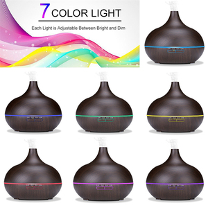 Image 3 - 400 ml USB aroma oil diffuser wood electric humidifier ultrasonic air humidifier aromatherapy LED light mist maker for home
