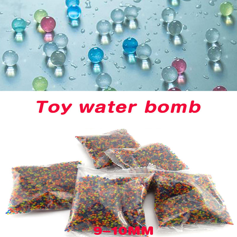 10000 Pcs Grow Water Beads Colored Orbeez Bullets Soft Crystal Water Paintball Gun Bullet Bottle Fill Water Gun Toys Bomb 9-11mm