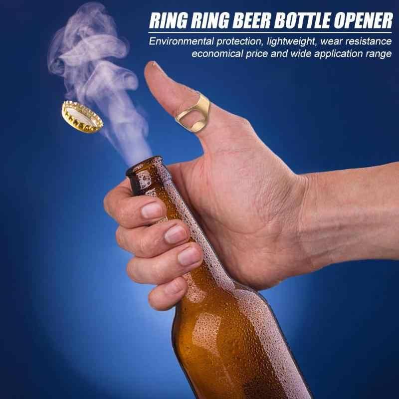 1pcs Mini Abridor de garrafas Em Aço Inoxidável Anel de Dedo Abertura do Anel-forma de Garrafa de Cerveja Cap Removedor de Aparelhos de Cozinha Bar ferramentas