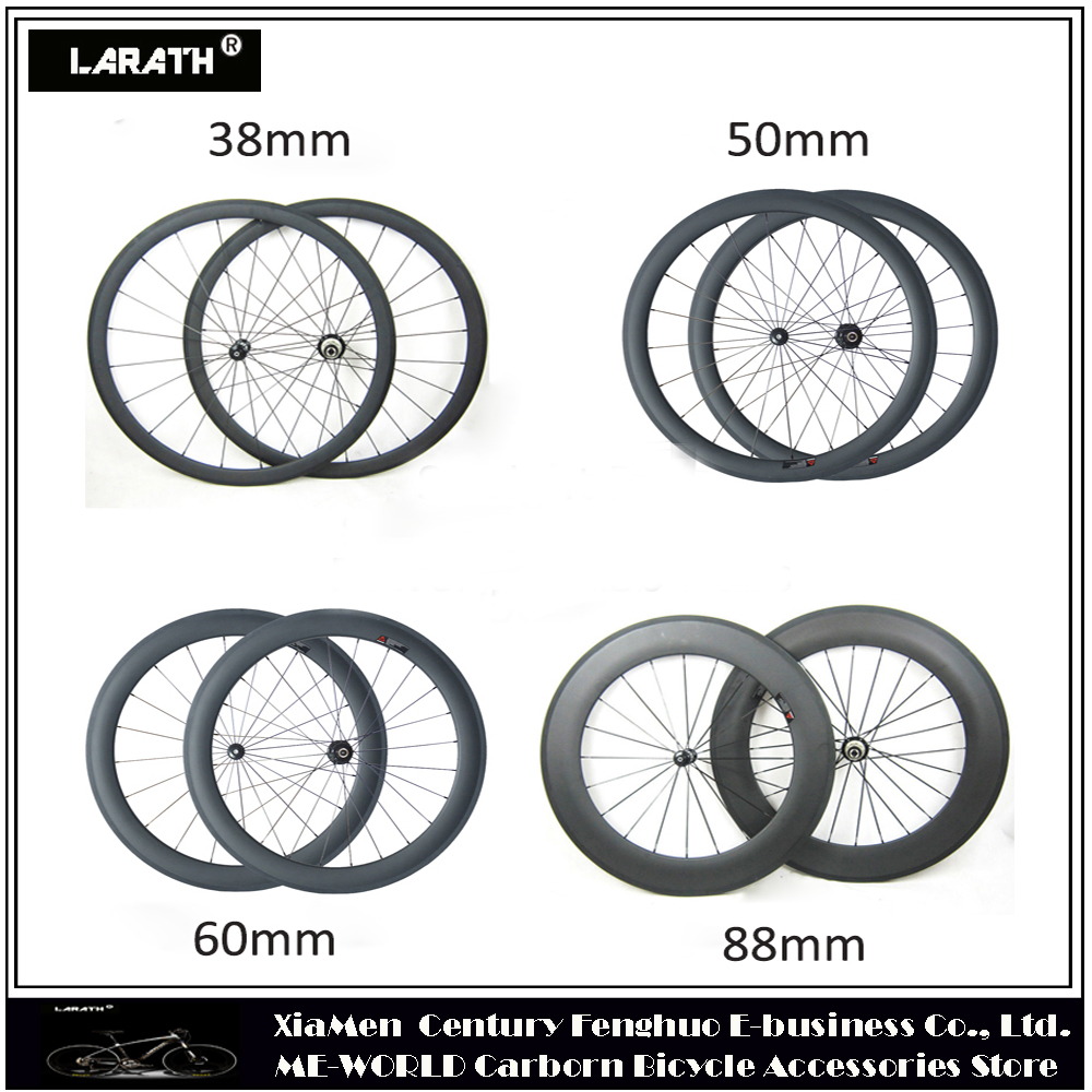 carbon wheels 38mm 50mm 60mm 88mm clincher tubular wheelsets 23 25mm width 700c carbon road bicycle