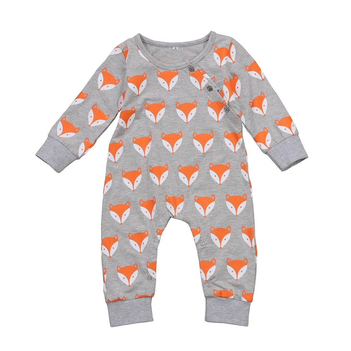Pudcoco Симпатичные Новорожденный ребенок дети мальчик девочка 2017 лиса аниме младенческой ползунки комбинезон, костюм Новинка наряды 0-24 м