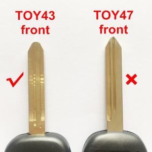 Image 5 - Araba 2B/3B modifiye çevirme uzaktan anahtar Toyota Corolla Camry taç RAV4 Auris Yaris Avalon Venza Prado 315 mhz 72G/4D67 çip