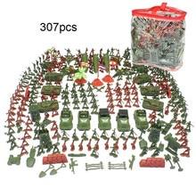 307 Pcs 4-9cm Children's Educational Toys Soldiers Military Set Sand Table Exercises Army Toys Parent-child Interactive Toys все цены