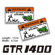 KODASKIN 2 Pieces Do Not Screw Warning Sticker Decal for Kawasaki GTR1400