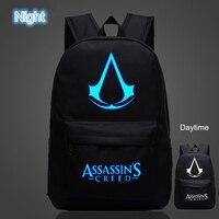 Assassins Creed Lumious OZUKO Znanych Marek Wysokiej Jakości Plecak Hot Game Boy Dziewczyna Oxford Plecaki Szkolne Dla Nastolatków