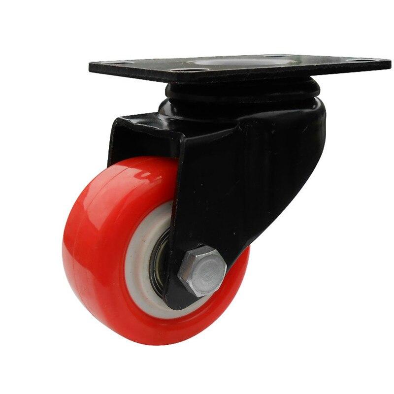 4 pcs zhuomiao 4 PCS laranja Cadeira de Escritório Giratória Rodízios de Borracha Industrial De Freio Universal Rodas