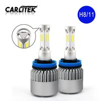 2X H7 Led Bulbs All In One Auto Car Headlight High Low Beam 72W 12000LM 12V