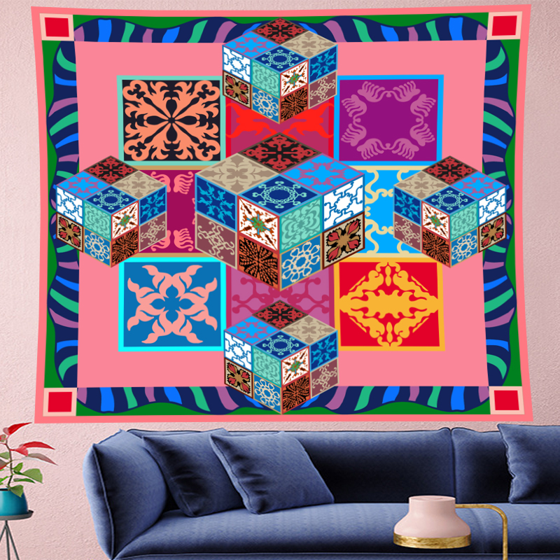 Pastoralism Flower tapestry wall hanging macrame kids room Wall Tapestry Hanging Home Decor