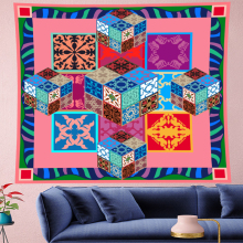 Pastoralism Flower tapestry wall hanging macrame wall hanging kids room tapestry Wall Tapestry Hanging Home Decor feather fabric wall hanging home decor tapestry