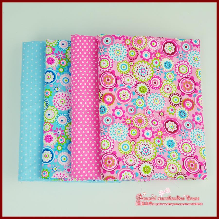 ᗑ】Envío libre 4 pieza 40x50 cm patrones florales algodón popelina ...