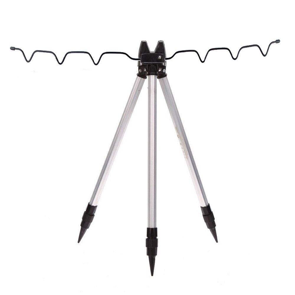 Aluminum Alloy Telescopic Fishing Tripod Holder Stand for Fishing <font><b>Rod</b></font> Silver