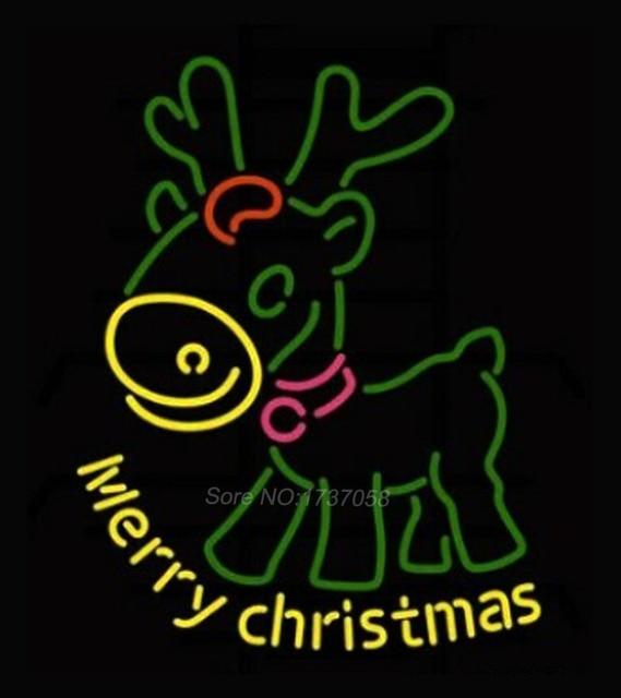 merry christmas neon sign deer nikke air jorrdan neon signs advertising free custom design neon real