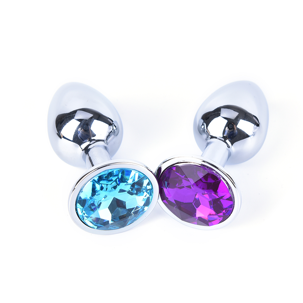 1 Pcs Metal Crystal Anal Plug Stainless Steel Booty Beads Jewelled Anal Butt Plug Sex Toys Products For Men Couples Small Size