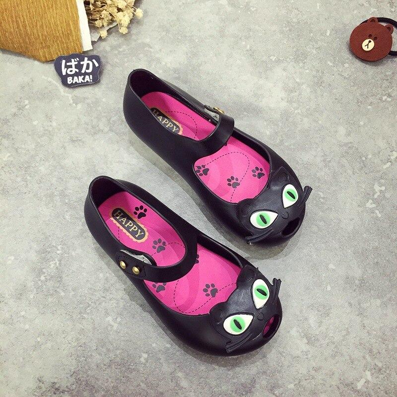 Mini Melissa 3Color Cat Jelly Sandals Girls Sandals Shoes Waterproof Anti Skid Princess Sandals Children Shoes