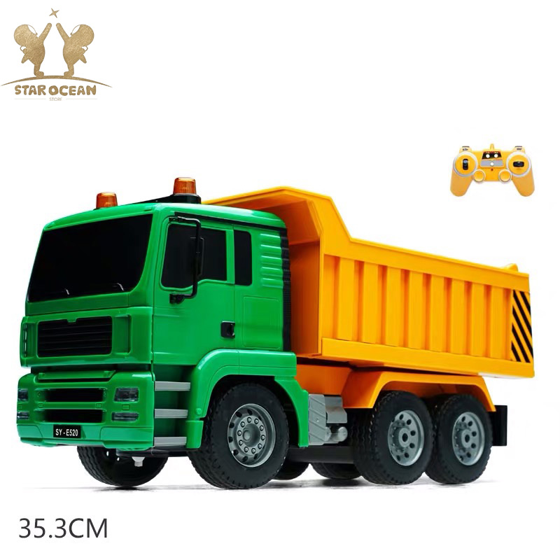 Car Remote Toy Dump Truck High Simulate RC Truck Toy Engineering Vehicles Loaded Sand Car 1:20 Scale for Kids Toy
