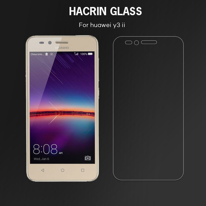 Tempered Glass for Huawei Y3 II New Explosion&Scratch-proof Screen Protector Film Case for Huawei Y3 2 /for Huawei Y3II Y3 II
