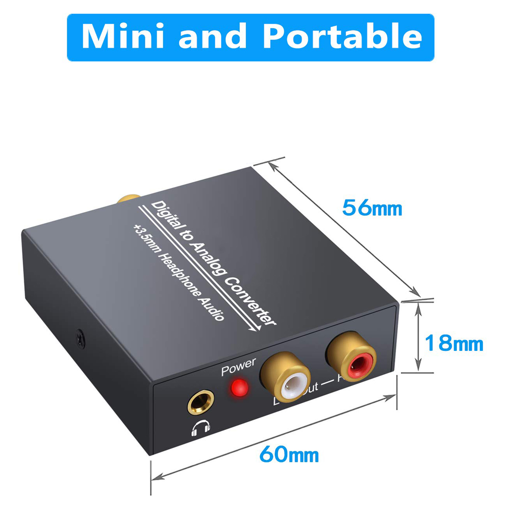 Image 5 - 3.5mm Jack 2RCA Coaxial Optical Fiber Digital To Analog Audio Converter Amplifier Decoder Digital Audio Decoder Adapter Protable-in Cables, Adapters & Sockets from Automobiles & Motorcycles