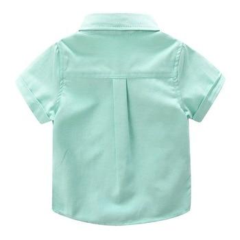 Boys' Short Sleeved Plain Polyester Shirt 5