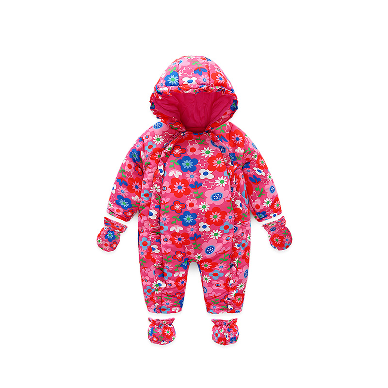 I.K new spring autumn baby clothes infant rompers thick warm cotton jumpsuit soft pajamas flower pattern long-sleeves PY25040 feidu мода steampunk goggles sunglasses women men brand designer ретро side visor sun round glasses women gafas oculos de sol