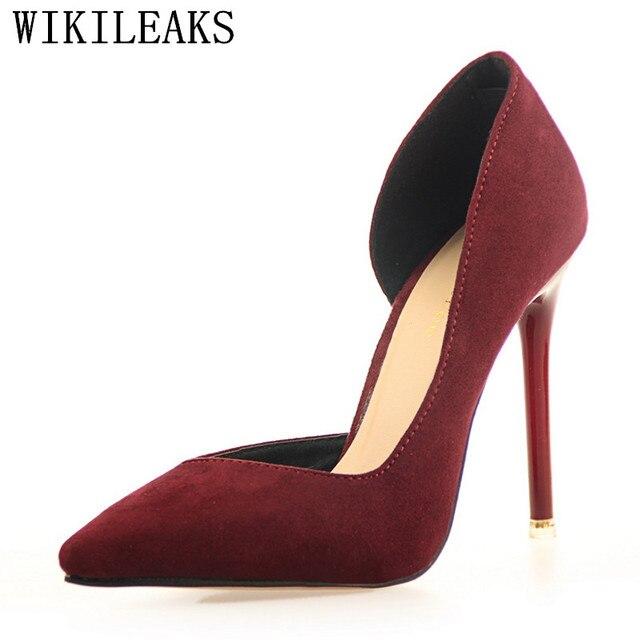 Дизайнерские свадебные туфли женские флоковые Туфли-лодочки на ультравысоком каблуке Роскошные брендовые bigtree женские туфли на шпильке Salto Alto Zapatos Mujer