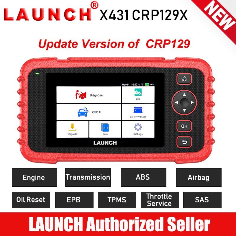 Novo LANÇAMENTO X431 CRP129X OBD2 Car Scanner Automotivo Ferramenta de Diagnóstico Auto Scan Diagnósticos 4 Sistema TPMS PK CRP129 Creader VIII