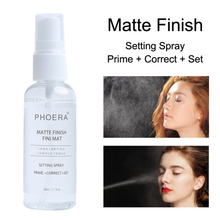 50ML Makeup Setting Spray foundation Matte Finish Bottle Face Foundation Oil-control Natural Long Lasting