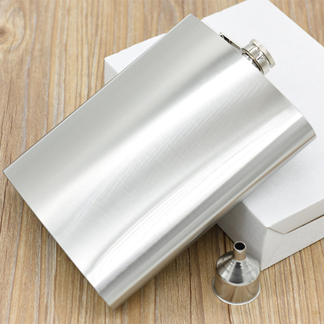 48 OZ Large Capacity Stainless Steel Liquor Wine Hip Flask Whisky Alcohol Flagon Drinkware Water Bottle Russian Flask + Funnel
