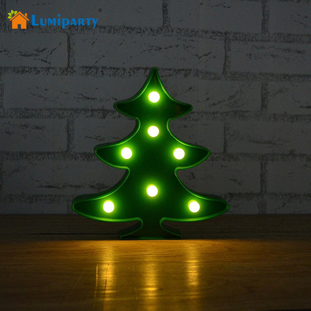lumiparty marquee sign light 3d night lights battery christmas tree led lamp tree smart sign led