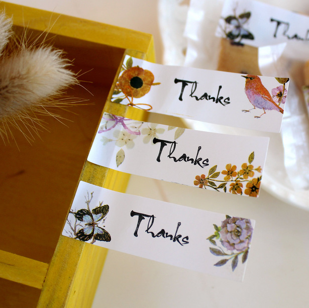 90Pcs/Lot 2018 New Arrival Flower Paint Thank You 3 Cake Packaging Sealing Label Kraft Sticker Baking DIY Gift Stickers M1038