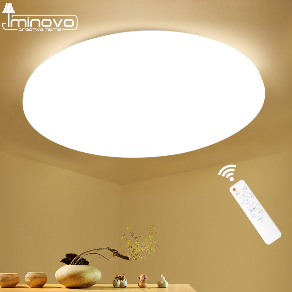 Moderno LED Luce di Soffitto Lampada Apparecchio di Illuminazione Montaggio Superficiale Soggiorno camera Da Letto Bagno Telecomando Decorazione Della Casa Cucina