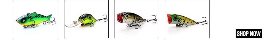 LOTTO di 10pcs tipo di esche da pesca Crankbaits Ganci Minnow Esche Tackle Manovella UK