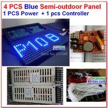 4 шт синий светодиодный модуль дисплея + 1 мощность slimp блок