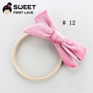 Детское бархатное кольцо для волос с бантиком для девочек, эластичные цветные ленты, украшения для волос для малышей, аксессуары для волос д...