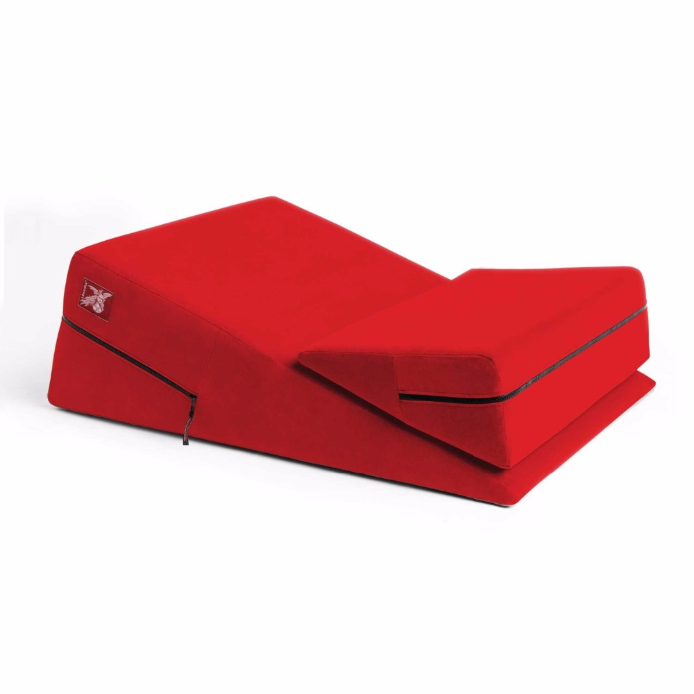 2Pic Triangle Wedge Sex Cube Sofa Set,Sex Pillow Chair Bed Pad,Sponge Fiber Materials,Various Position Sex Furniture For Couple factory direct red color sex chair wedge 2 piece triangle sponge pad adult pillows sex cube sofa bed diy sex furniture
