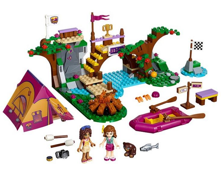 NEW 10493 Girls Friends Adventure Camp Rafting Building Blocks set kids DIY Bricks toys Gift Compatible With 41121 for children
