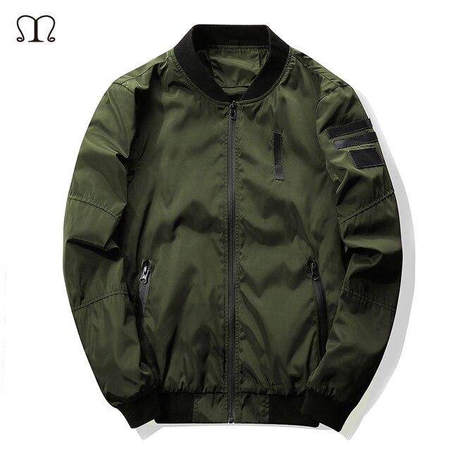 2016 New Men's Bomber Jacket Coat Letter Emboridary Mens Hip Pop Jacket Pilot Bomber Jackets Men Windbreaker Jacket Army Green